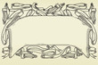 Vintage vector ornate banner at engraving style.