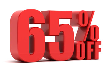 65 percent off promotion