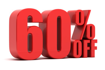 60 percent off promotion