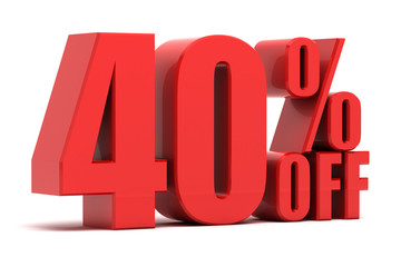 40 percent off promotion