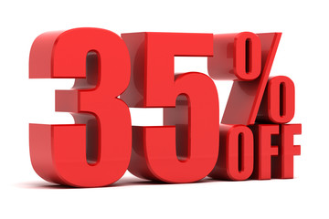 35 percent off promotion