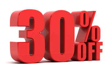 30 percent off promotion
