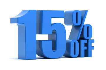 15 percent off