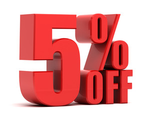 5 percent off promotion