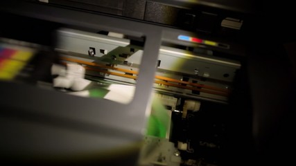 Printer machine printing