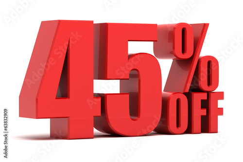 45 percent off promotion