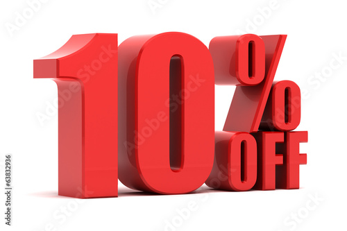 10 percent off promotion