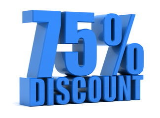Discount 75 percentage