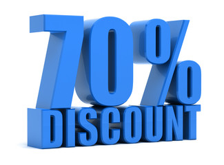 Discount 70 percentage
