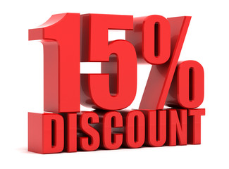 Discount 15 percent