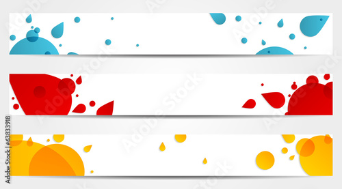 3 abstract banners set
