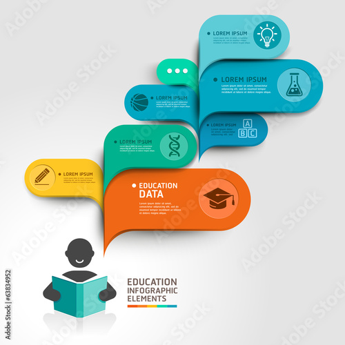 Education Infographics step option. Vector illustration. can be