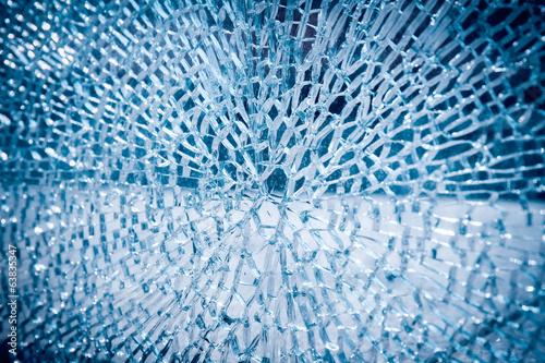 Leinwandbild Motiv broken glass background