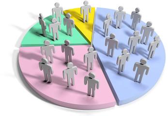 Financial data statistics business people