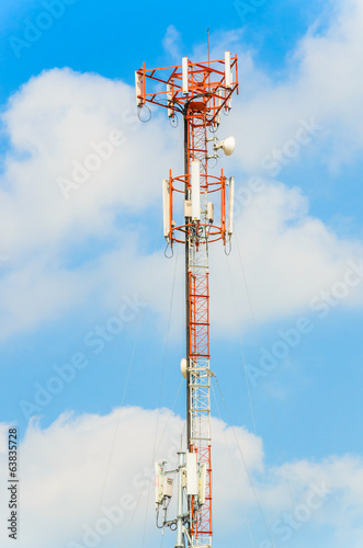 Antenna on blue sky