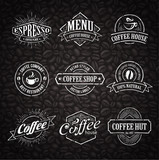 Fototapety Hand-drawn Coffee Stamps