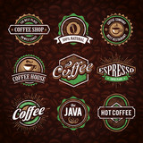 Retro Styled Coffee Emblems - 63836193