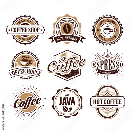 Retro Styled Coffee Emblems