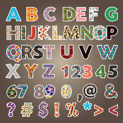 pattern alphabet a-z