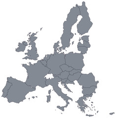 mape of european union borders