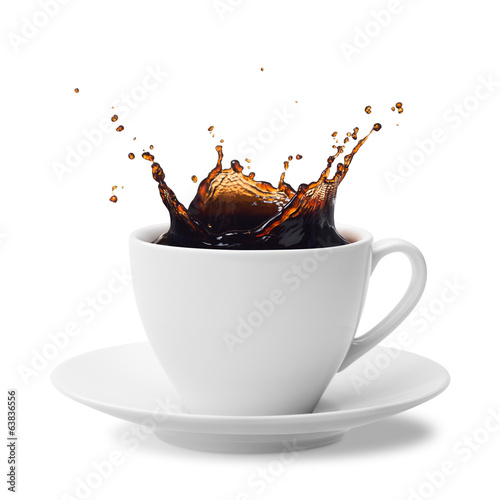 Poster Koffie splashing coffee