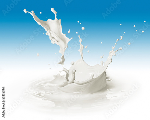 splashing milk