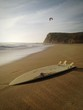 canvas print picture - Beached Surfboard