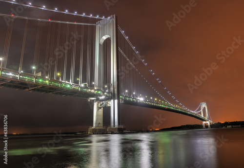 Verrazano Narrows Bridge at Night