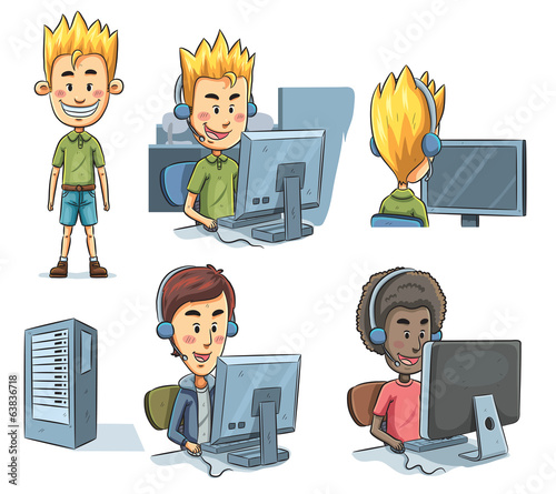 Boys Playing Computer