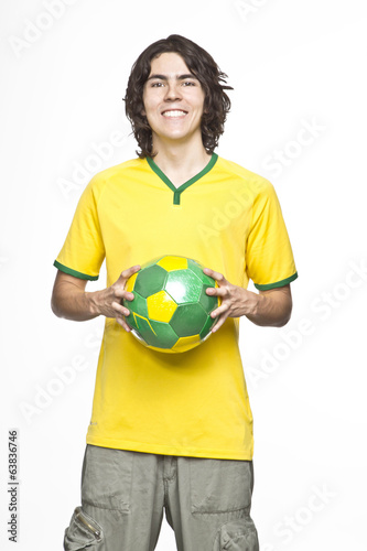 man with ball in his hands
