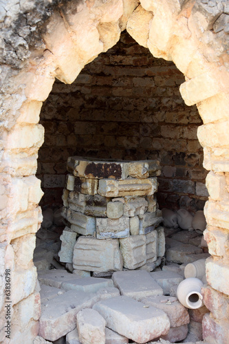 Ceramics oven at traditional pottery in Bahrain, Middle East
