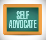 self advocate message illustration design poster