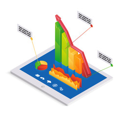 PC analytics or infographics template
