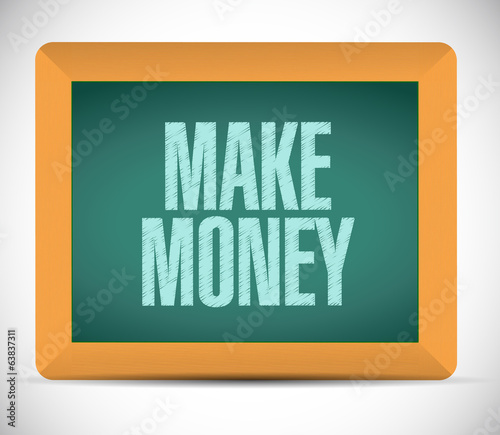 make money message illustration design