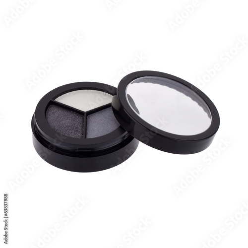 Eye shadows on white background