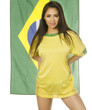 Beautiful Brazil soccer football fan