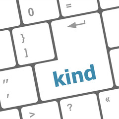 kind on computer keyboard key enter button