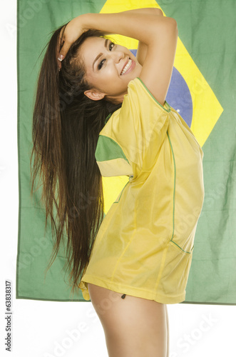 Beautiful Brazil soccer football fana