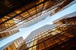 Symmetrical high-rise modern office block, Hong Kong