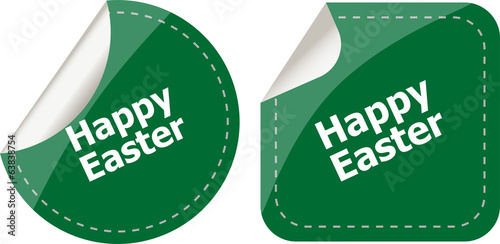 Easter sign icon. Easter label tag symbol