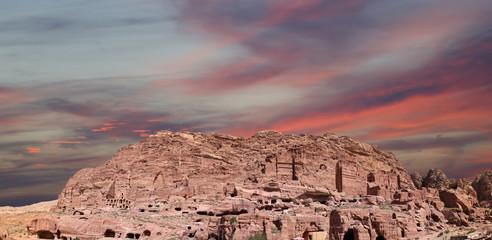 Petra, Jordan (panoramic view)-- it is a symbol of Jordan
