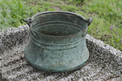 Cooper cauldron for water and other liquid