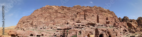 Petra, Jordan (panoramic view)-- it is a symbol of Jordan