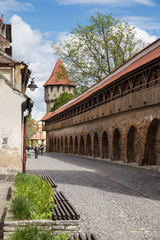 Tower and defense wall in Sibiu