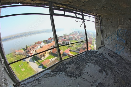 View from destroyed water tower in Vukovar.
