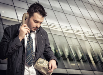 Young man who calls