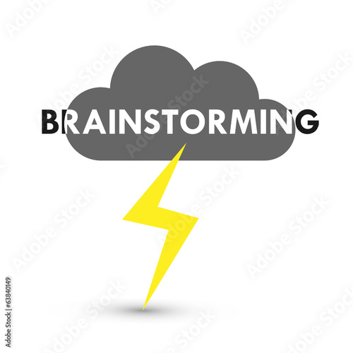 """BRAINSTORMING"" ICON (ideas teamwork collaboration innovation)"