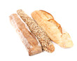 Assortment of white bread.