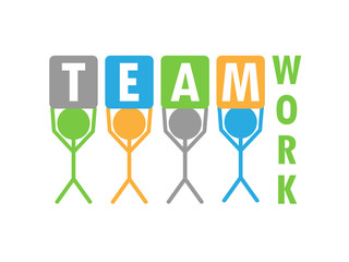 """TEAMWORK"" (cooperation business project management)"