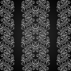 Vertical grey seamless pattern